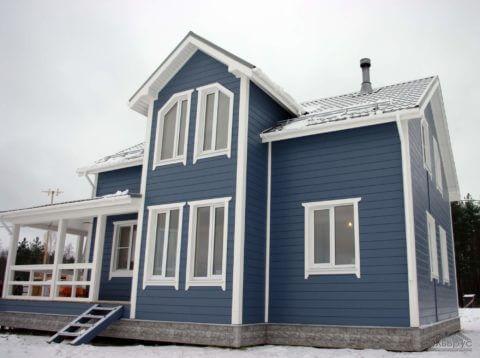 Каркасный дом по проекту КД-017 в КП «Сосновские Озера»