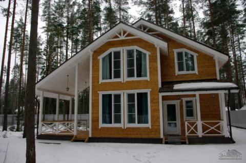 Каркасный дом по проекту КД 024 в пос. Рощино