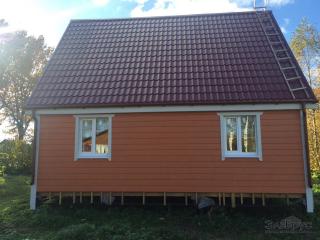 Строительство каркасно-щитового дома по проекту ДД-004 в д. Надевицы