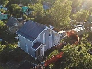 Каркасный дом по проекту КД 023 с террасой в СНТ «Ласточка», Кировский район