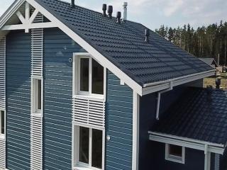 Каркасный дом по проекту КД 024 в КП «Сосновские Озера», Приозерский район