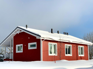 Каркасный дом по проекту КД 054 в КП «Сосновские Озера», Приозерский район
