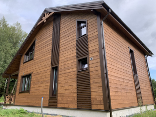 Каркасный дом по проекту КД 066 в д. Ивановское, Тосненского района в комплектации «С отделкой + Инженерный пакет»