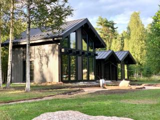 Каркасный дом по проекту КД 060 в КП «Золотые пески», Выборгский район