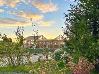 Строительство домов, два изменённых проекта КД 019 и КД 060. Коттеджный посёлок ART HOUSE, Московская область, Истринский район.