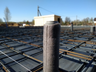 Заливка железо-бетонной монолитной плиты в д. Ивановское под строительство каркасного дома по проекту КД 066 в д. Ивановское