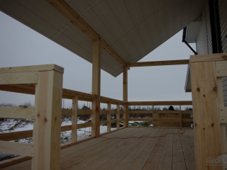 Строительство каркасного дома по проекту КД-004 в п. Низино, Ломоносовского района в комплектации «Под ключ»