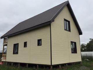 Строительство каркасного дома по проекту КД-008 в пос. Вяхтелево