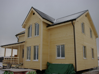 Строительство каркасного дома по проекту КД-017 в п. Ропша в комплектации «Под ключ»