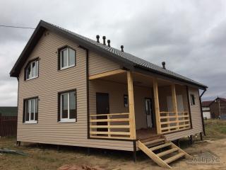 Строительство каркасного дома по проекту КД-022 в КП «Прилесный»