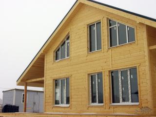 Каркасный дом по проекту КД 41 в д. Сокули, КП «Жемчужина»