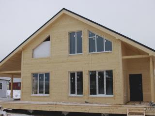 Строительство каркасного дома по проекту КД 41 в д. Сокули, КП «Жемчужина»