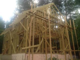 Строительство каркасного дома по проекту КД-043 в пос. Орехово, СНТ «Орехово-Северное» в комплектации «Под ключ».