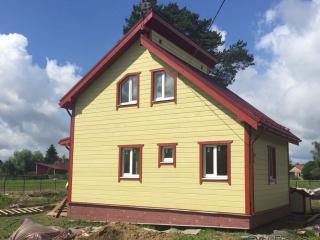 Строительство каркасного дома по проекту КД-019 в д. Муховицы