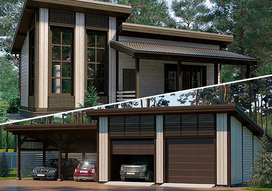 Каркасные бани и гаражи