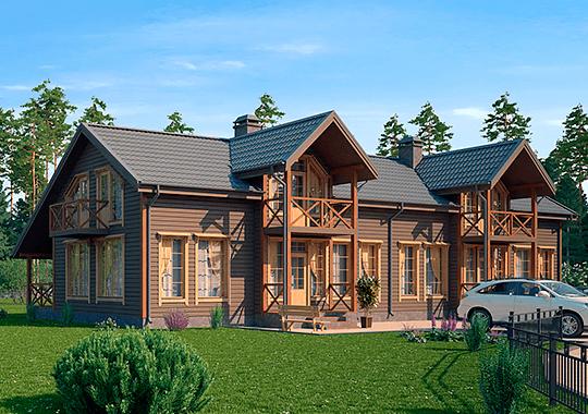 Проекты дуплексных домов