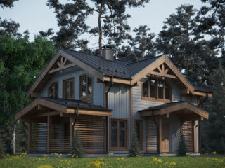 Проект каркасного дома КД 050