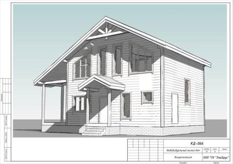 Каркасный дом в комплектации «С отделкой» по проекту КД 066, д. Керро - Общий вид