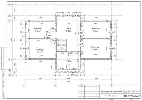 Каркасный дом по Индивидуальному проекту, Заклинское СП, д. Нелаи - План 2-ого этажа