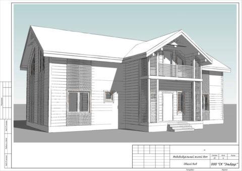 Каркасный дом по Индивидуальному проекту, Заклинское СП, д. Нелаи - Общий вид