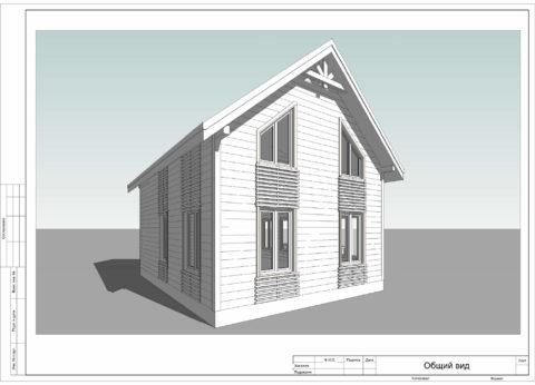 Каркасный дома по проекту КД 048, Смоленская область, д. Кореневщина - Общий вид
