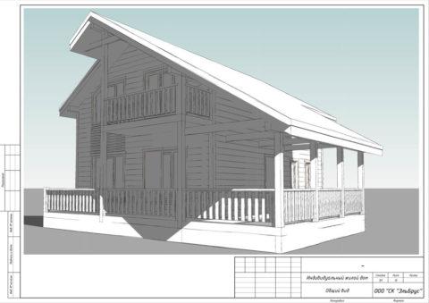 Каркасный дом по проекту КД 046, КП «Изумрудный город» - Общий вид