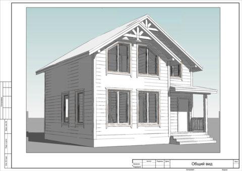 Каркасный дом по проекту КД 023, КП «Павловские Дачи» - Общий вид