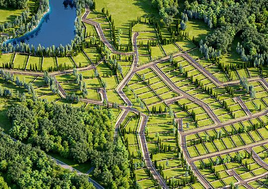 Загородные участки и коттеджные посёлки