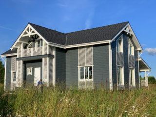 Каркасный дом по индивидуальному проекту в КП «Изумрудный Город», д. Нелаи