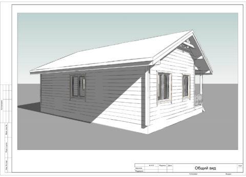Каркасный дом по проекту ДД-009, Смоленская область, СНТ «Феникс» - Общий вид