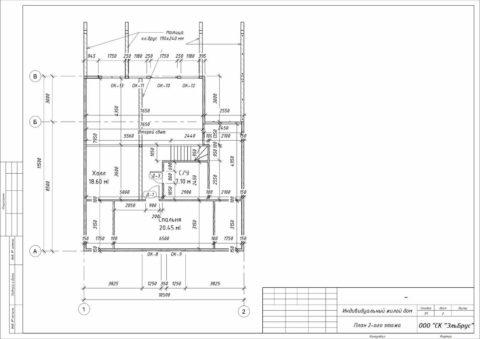 Каркасный дом по проекту КД 072, Ленинградская область, д. Уварово - План 2-ого этажа